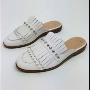 NWT A New Day White Studded Mules w/Kilties